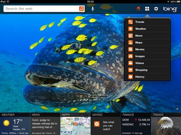 Bing per iPad