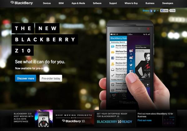 sito BlackBerry