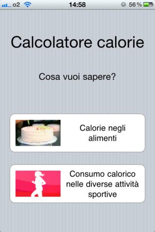 Calcolatore calorie