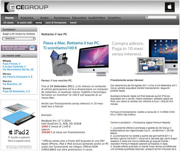 CeGroup campagna rottamazione settembre 2011