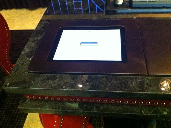 CES iPad hotel reception