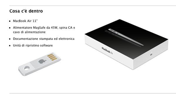 MacBook Air chiavetta USB Apple