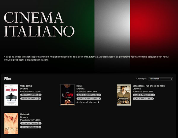 iTunes Store - Cinema Italiano