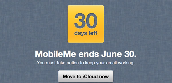 MobileMe messaggio avviso scadenza