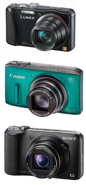 Panasonic Lumix TZ30, Canon Powershot SX260, Sony Cybershot DSC-HX10V
