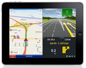 CoPilot iPad doppia visualizzazione orizzontale