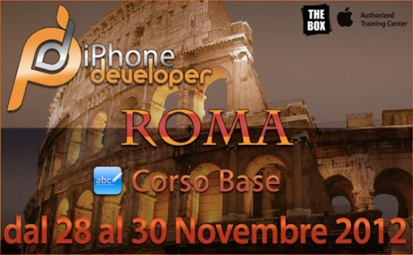 - 28-29-30 Novembre a ROMA il corso BASE di programmazione iOS