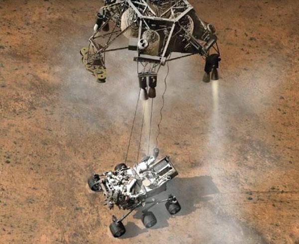 Curiosity mars rover Mac pasadena