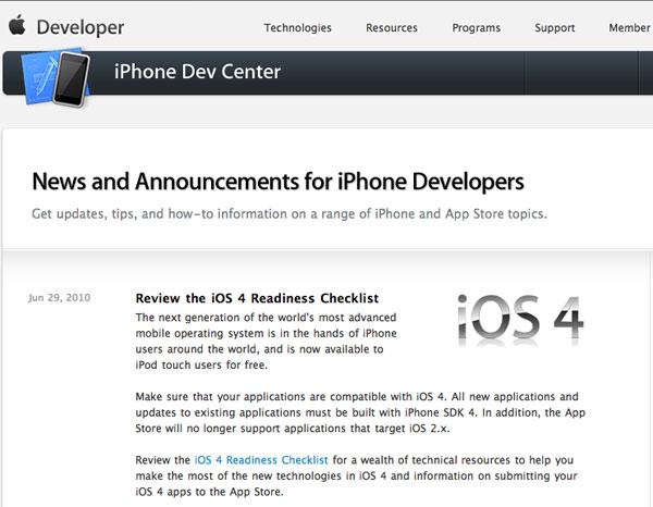 iOS developer Apple