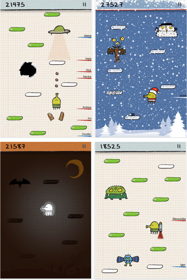 Doodle Jump - iphone touch game screenshots