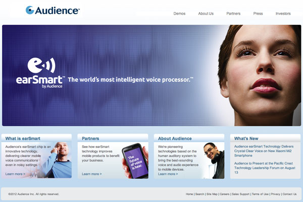 earSmart Audience sito web