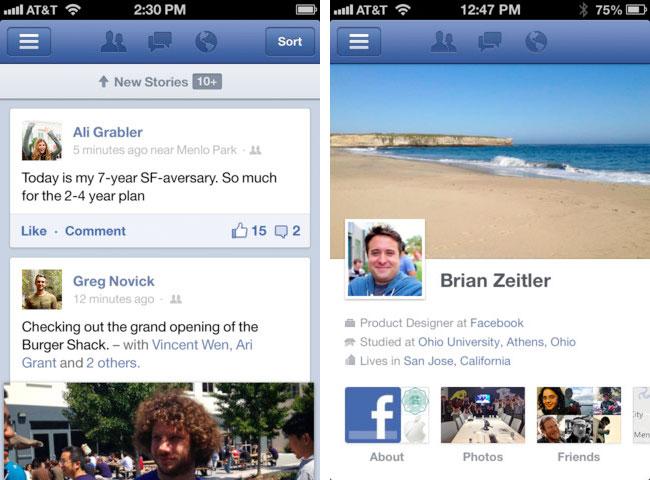 facebook iphone e ipad