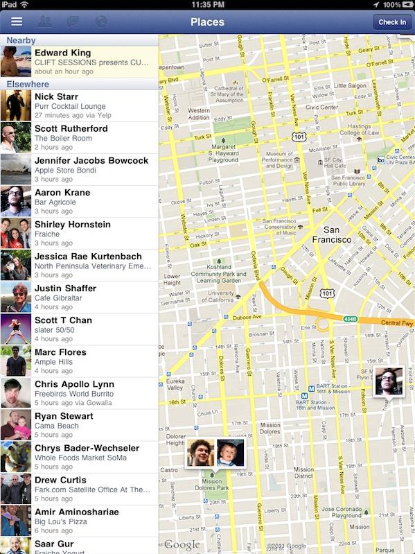 Facebook - app ufficiale per iPad
