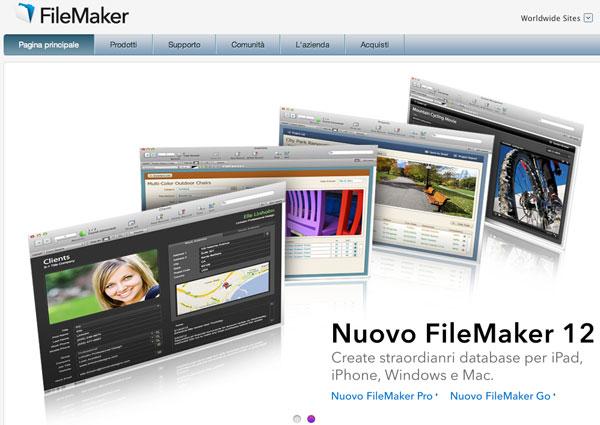 FileMaker 12 sito web