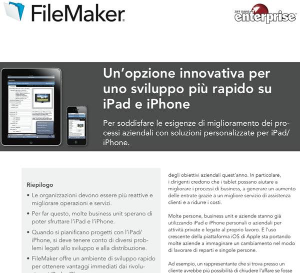 FileMaker kit sviluppo ios