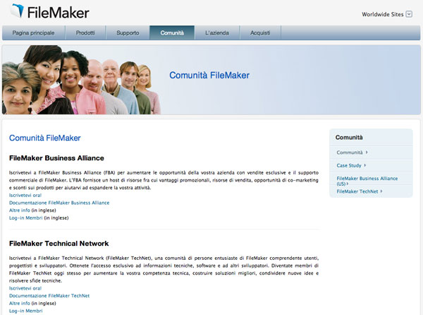 filemaker 12 comnunity