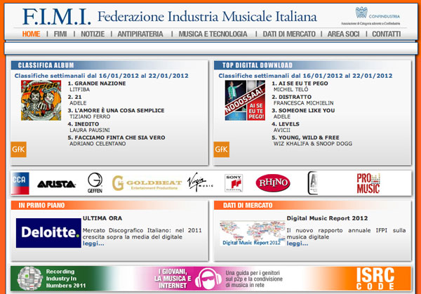 Federazione Industria Musicale Italiana FIMI