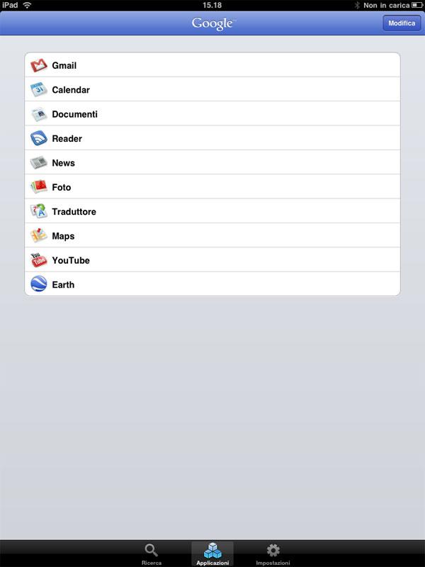 Google Apps iPad