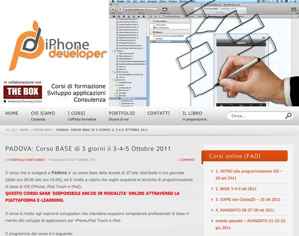 iPhoneDeveloper: Corso Base di programmazione iOS a Padova il 3,4 e 5 ottobre