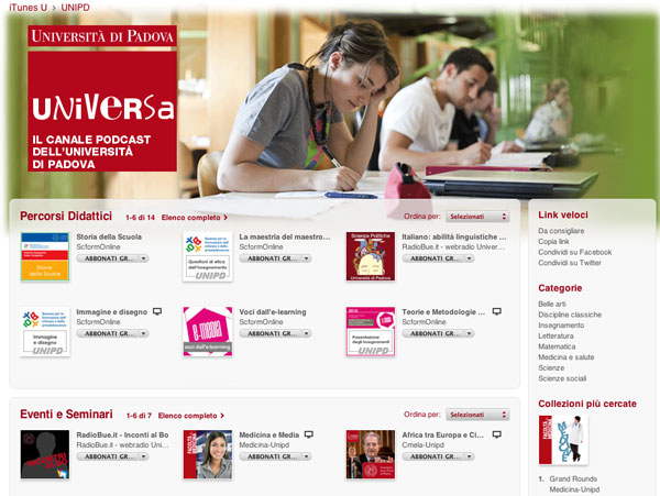 Università Padova - iTunes U