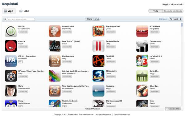 iTunes Store - Acquistati