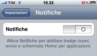 no notifiche