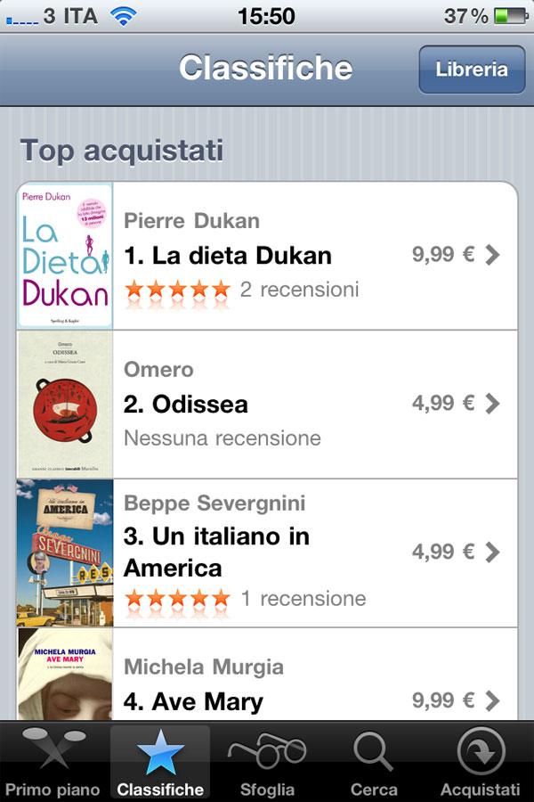 iBook Store da iPhone