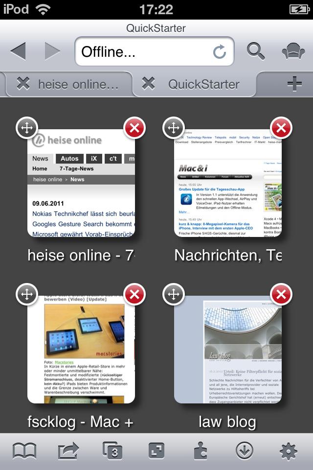 iCab mobile per iPhone e iPad