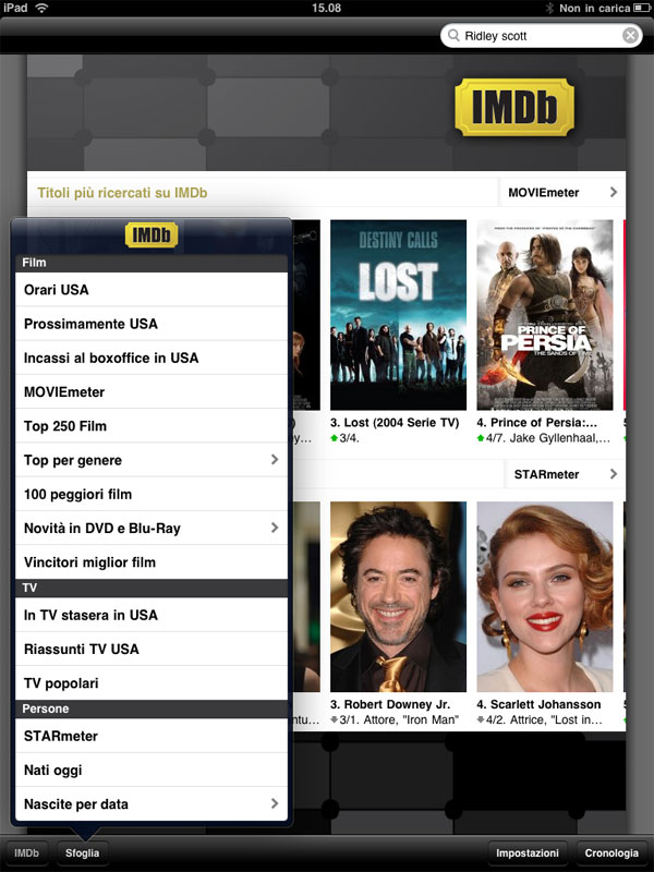 IMDb iPad