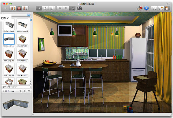 Live interior 3d arredo d 39 interni su mac a partire da 24 for Software gratuito per il layout del garage