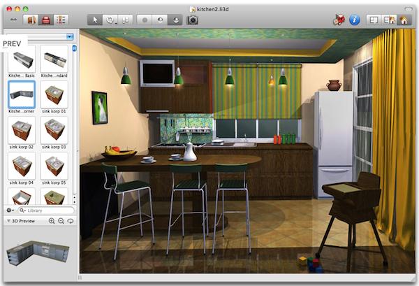 Live interior 3d arredo d 39 interni su mac a partire da 24 for Arredare 3d