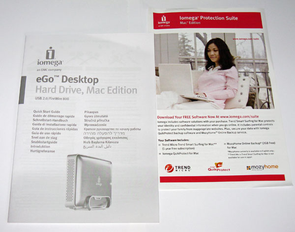 Iomega eGo Desktop Hard Drive Mac Edition