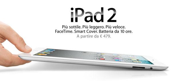 iPad 2 sottile, leggero veloce