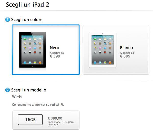 ipad 2 399 euro