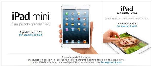 ipad nuovi apple store