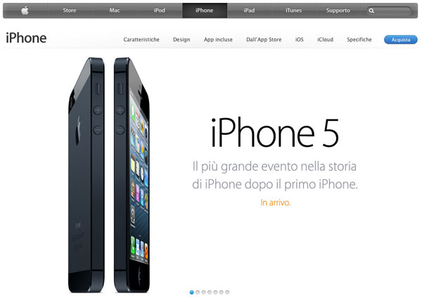 iPhone 5 home page apple