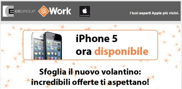 iPhone 5 ora disponibile nei negozi CE Group e @Work