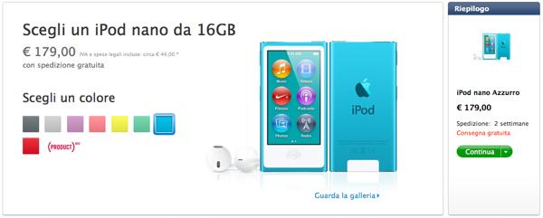 Nuovi iPod touch e  iPod nano: ora disponibili con spedizione a 2 settimane