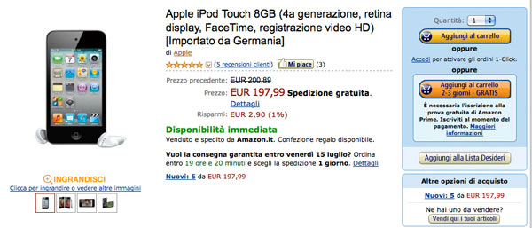 ipod touch amazon