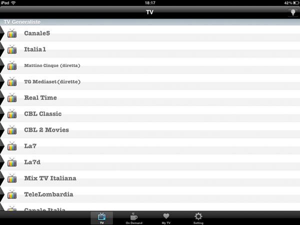 italian tv iphone e ipad