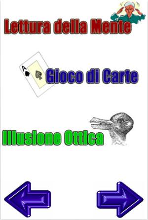 iTrick app per iPhone e touch, magia illusioni, trucchi matematico- logici