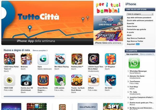 App Store sezione giochi