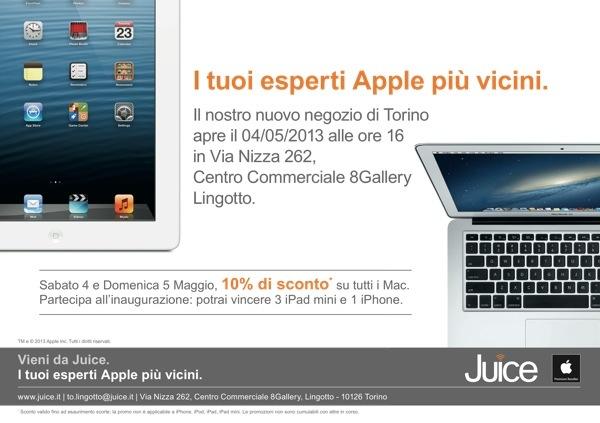 Juice inaugurazione Torino Lingotto