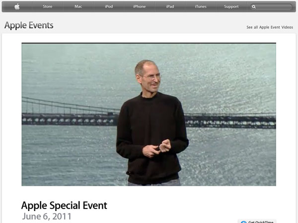 Apple Keynote WWDC 2011