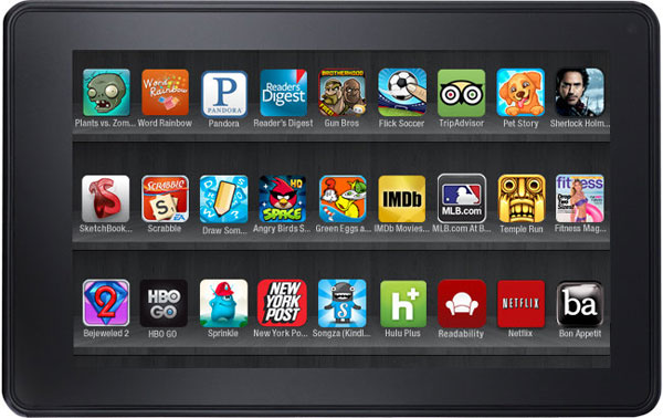 kindle fire vetrina