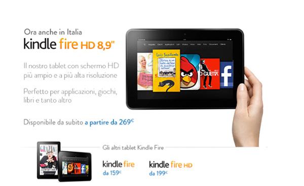 kindle fire 8,9 pollici