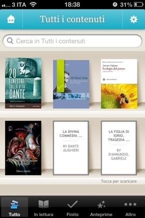 Libri popcorn 5 app gratis per leggere ebook dal cellulare for Ordinare libri on line
