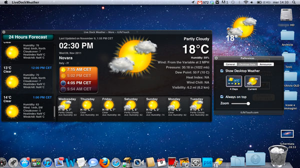 Live Dock Weather per Mac