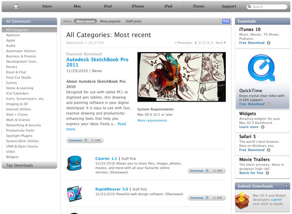 Mac OS X Downloads