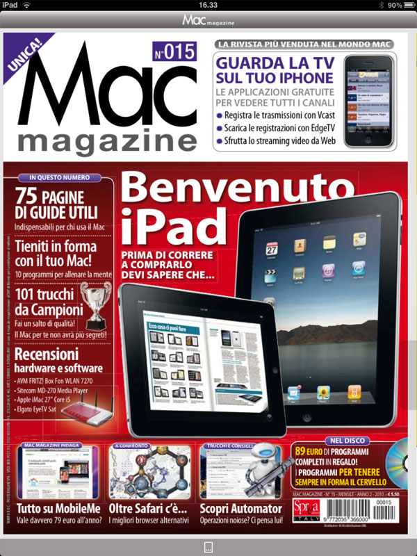 Mac magazine iPad